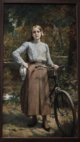Bicyclette au Vésinet (1903)